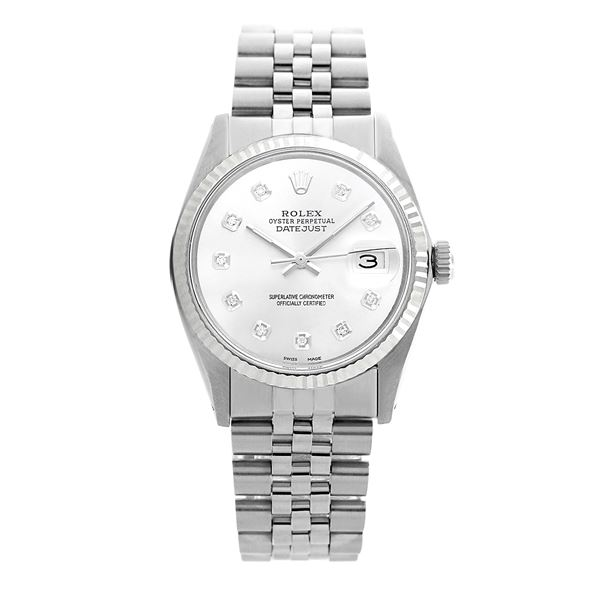 Rolex Pre-owned 36mm Mens Silver Dial Stainless Steel