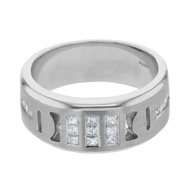 Natural 0.67 CTW Princess Diamond & Princess Diamond Ring 14K White Gold - REF-144N2Y