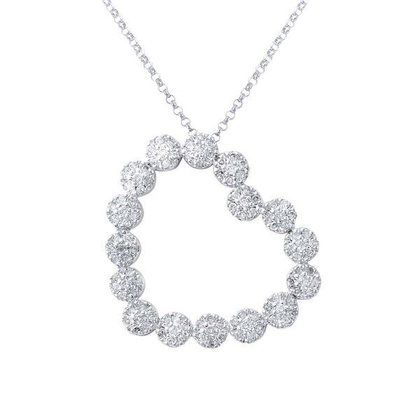 Natural 0.80 CTW Diamond Necklace 14K White Gold - REF-84T6X