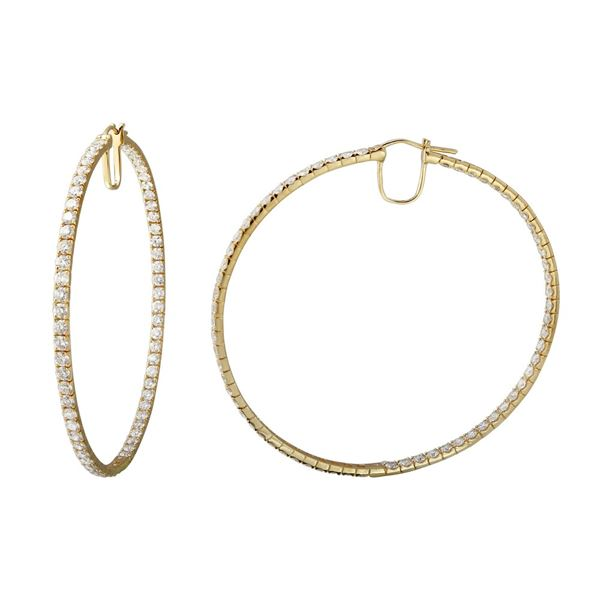 Natural 9.67 CTW Diamond Earrings 14K Yellow Gold - REF-836T3X