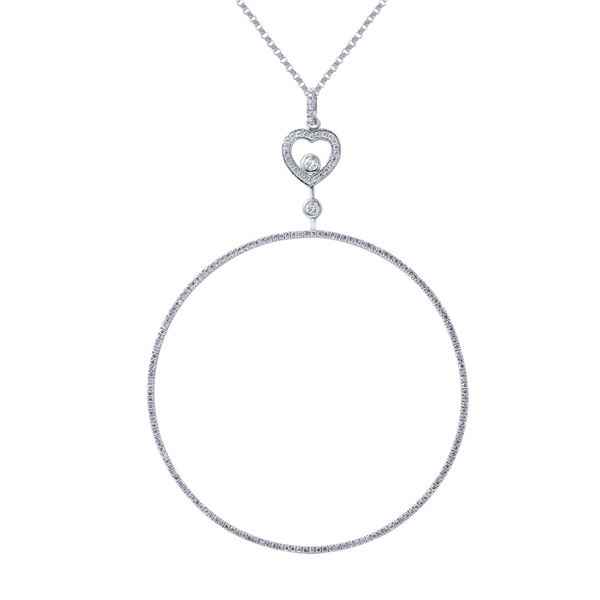Natural 1.40 CTW Diamond Necklace 14K White Gold - REF-170W3H