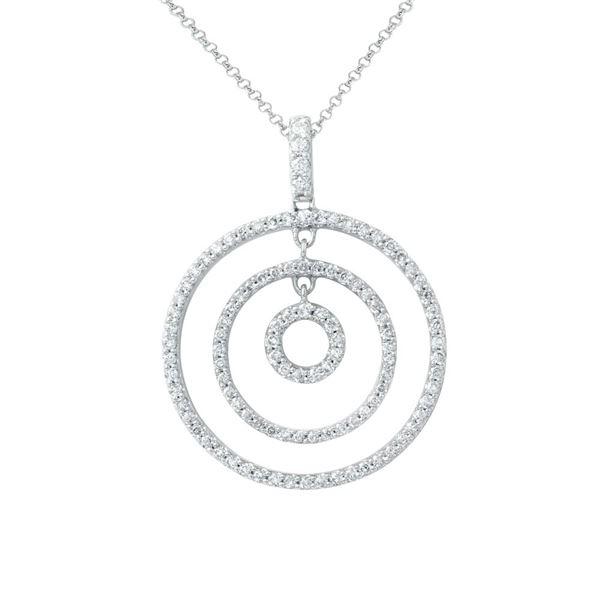 Natural 0.59 CTW Diamond Necklace 14K White Gold - REF-59T4X