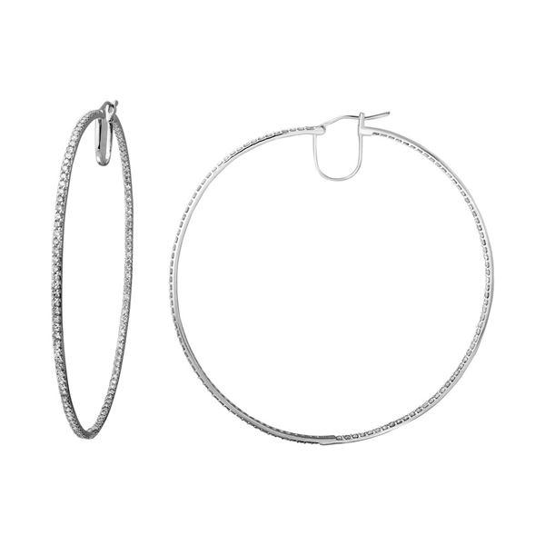 Natural 5.38 CTW Diamond Earrings 14K White Gold - REF-394W2H