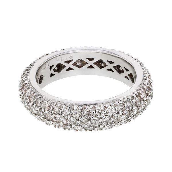 Natural 1.95 CTW Diamond Band Ring 14K White Gold - REF-145W8H