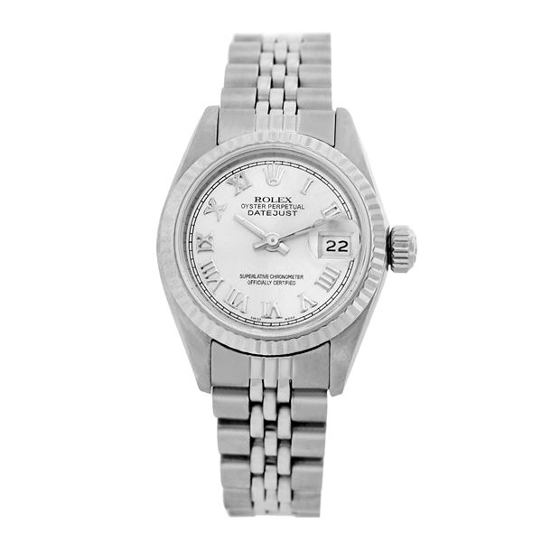 Rolex Pre-owned 26mm Womens Custom White Stainless Steel
