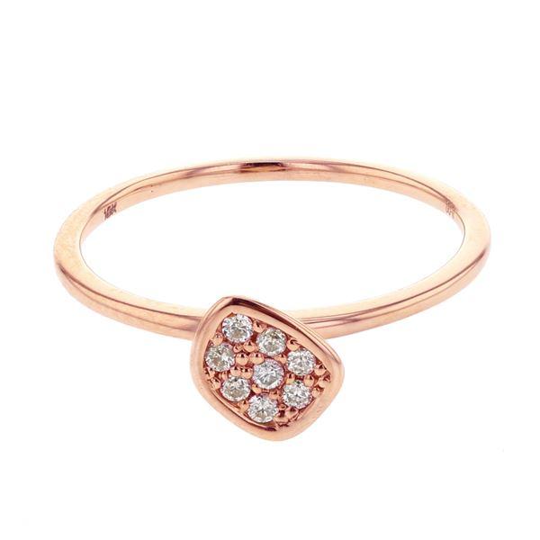 Natural 0.11 CTW Diamond Ring W=7MM 18K Gold - REF-28T8X