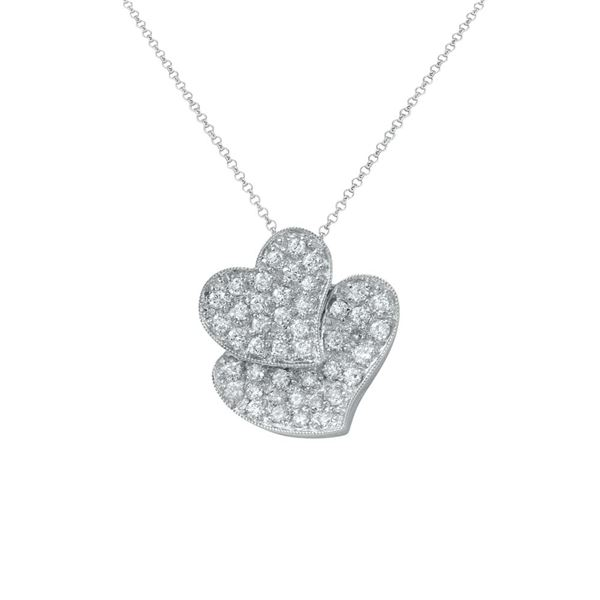 Natural 0.72 CTW Diamond Necklace 18K White Gold - REF-89N3Y