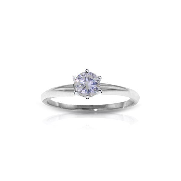 Genuine 0.35 ctw Diamond Anniversary Ring 14KT White Gold - REF-110X9M