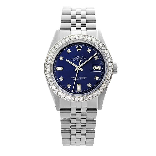 Rolex Pre-owned 36mm Mens Blue Dial Stainless Steel