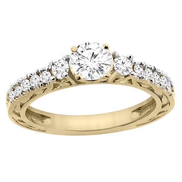 1.10 CTW Diamond Ring 14K Yellow Gold - REF-307W6F