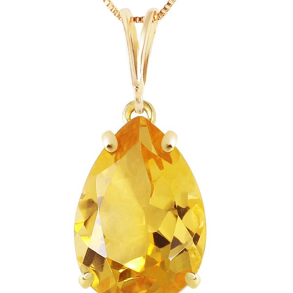 Genuine 5 ctw Citrine Necklace 14KT Yellow Gold - REF-30X3M