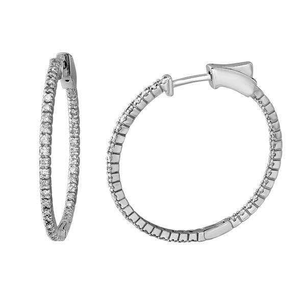 Natural 0.78 CTW Diamond Earrings 14K White Gold - REF-105N3Y