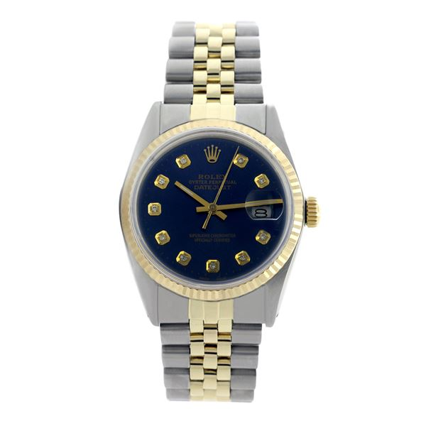 Rolex Pre-owned 36mm Mens Navy Blue Two Tone