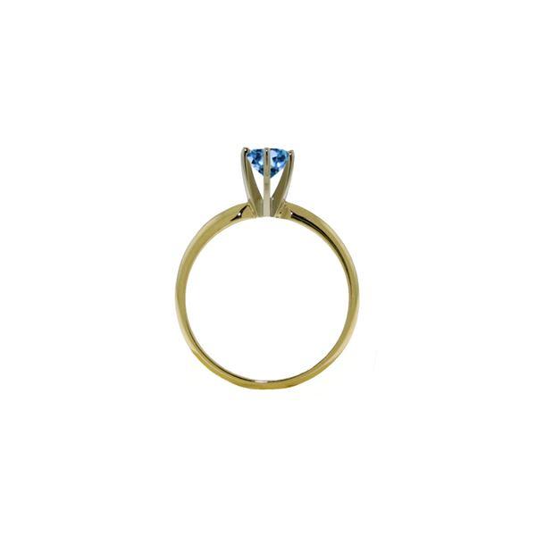 Genuine 0.65 ctw Blue Topaz Ring 14KT White Gold - REF-26W9Y