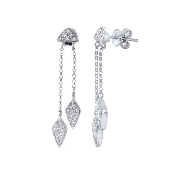 Natural 0.38 CTW Diamond Earrings 14K White Gold - REF-57K6R