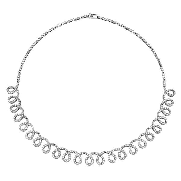 Natural 5.03 CTW Diamond Necklace 14K White Gold - REF-416K7R