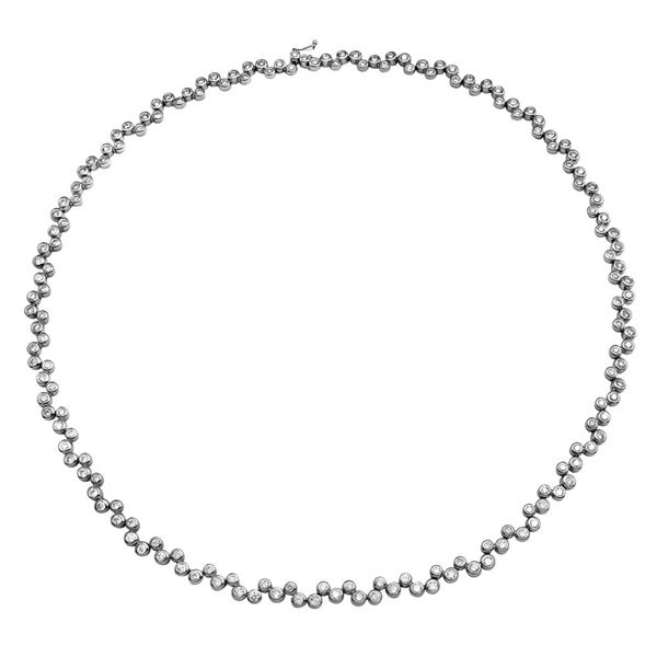 Natural 6.10 CTW Diamond Necklace 14K White Gold - REF-587N7Y