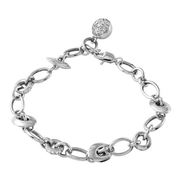 Natural 0.97 CTW Diamond Bracelet 14K White Gold - REF-131N4Y
