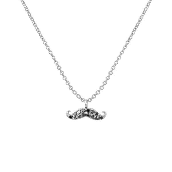 Natural 0.08 CTW Diamond Necklace 18K White Gold - REF-27T9X