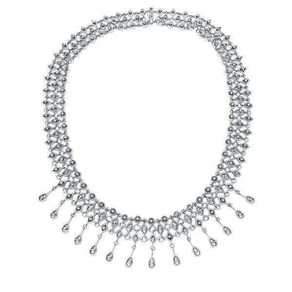 Natural 1.48 CTW Diamond Necklace 14K White Gold - REF-603W9H