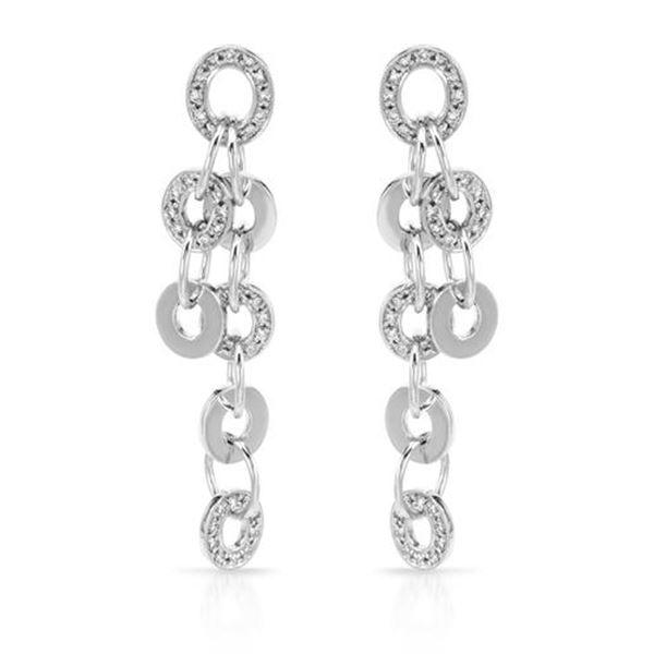 Natural 1.02 CTW Diamond Earrings 14K White Gold - REF-184T5X
