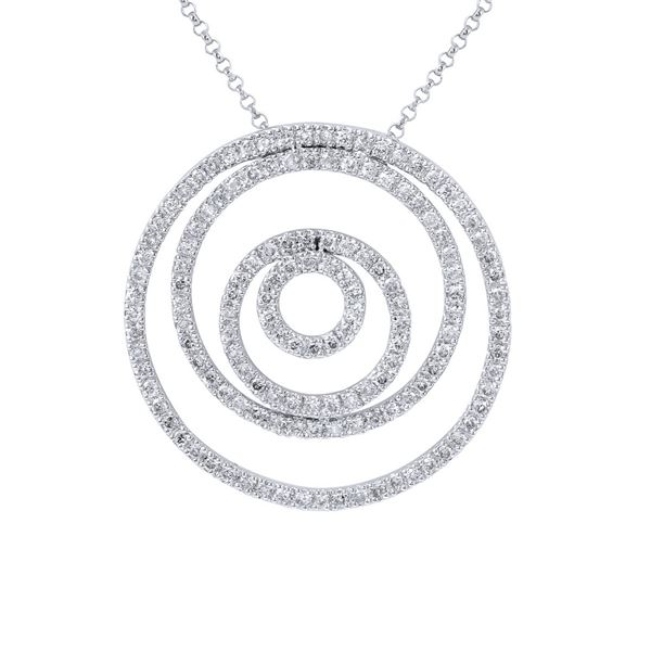 Natural 1.32 CTW Diamond Necklace 14K White Gold - REF-129W6H