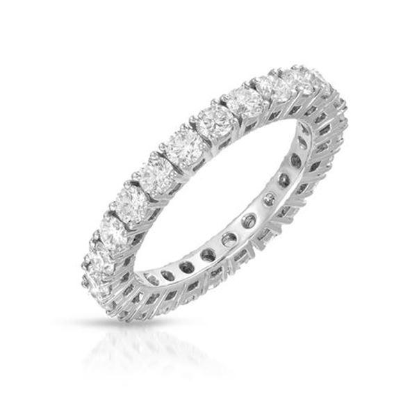 Natural 1.81 CTW Diamond Ring 14K White Gold - REF-168F3M