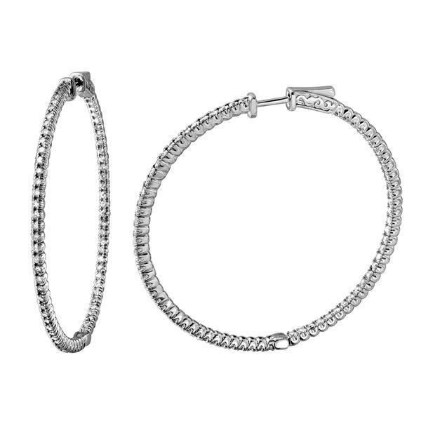 Natural 1.93 CTW Diamond Earrings 14K White Gold - REF-260N3Y