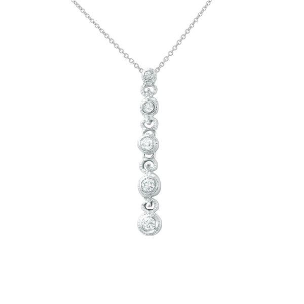 Natural 0.25 CTW Diamond Necklace 14K White Gold - REF-51K3R