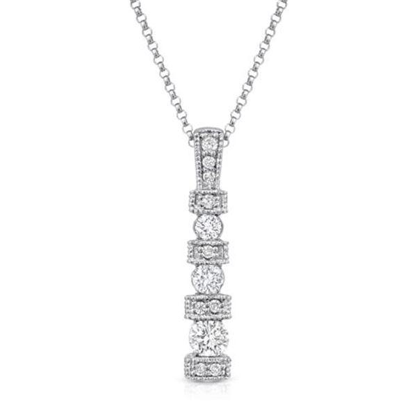 Natural 0.65 CTW Diamond Necklace 14K White Gold - REF-79T2X