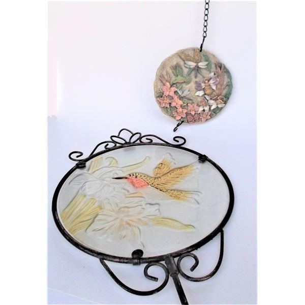 Humming Bird Garden Decor - Light Catcher and Hanging Art