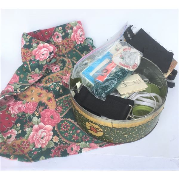 Shoe Bag and Assorted Sewing Supplies