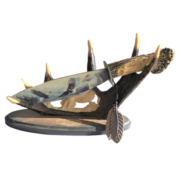 Decorative Knife carved from antlers