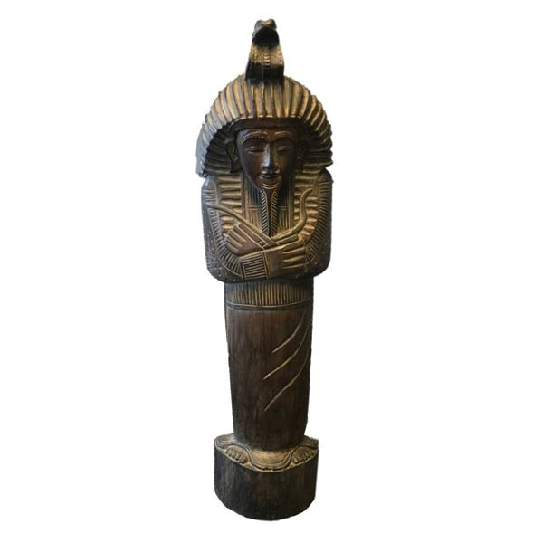 """Large Wooden Carving Mummy - 40"""" high"""
