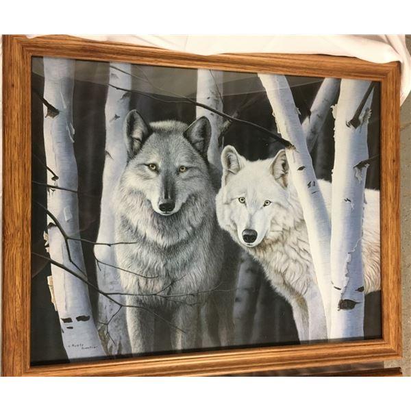 Rusty Frentner Framed Art Print - Wolves