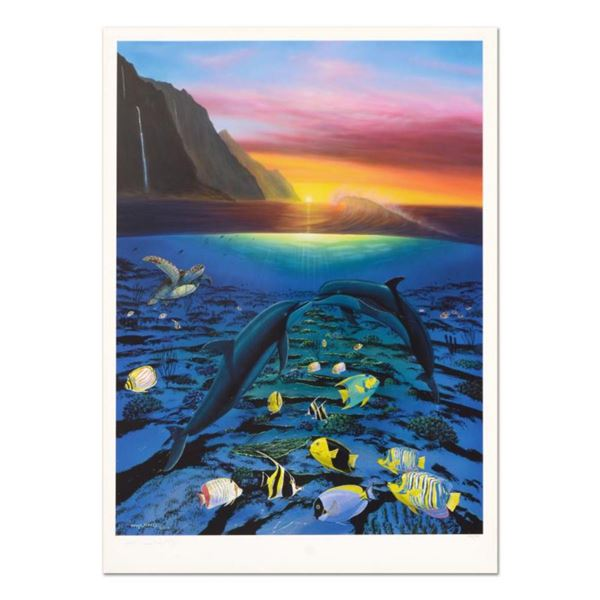 "Wyland, ""Kiss For the Sea"" Limited Edition Lithograph, Numbered and Hand Signed with Certificate of"