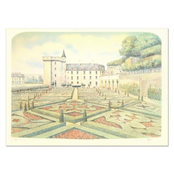 "Rolf Rafflewski, ""Chateau Villandry Gardens"" Limited Edition Lithograph, Numbered and Hand Signed."