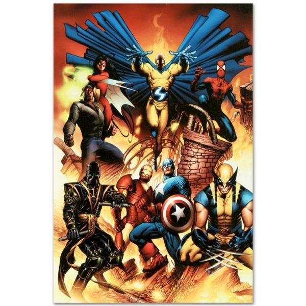"Marvel Comics ""New Avengers #1"" Numbered Limited Edition Giclee on Canvas by Joe Quesada with COA."