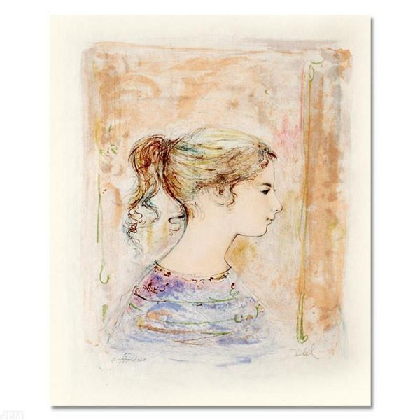 """Sami #11"" Limited Edition Lithograph by Edna Hibel, Numbered and Hand Signed with Certificate of Au"