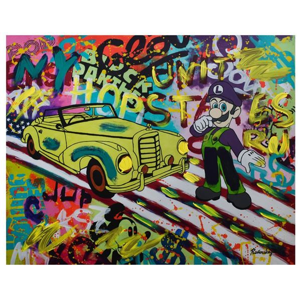"Nastya Rovenskaya- Mixed Media ""About To Drive"""