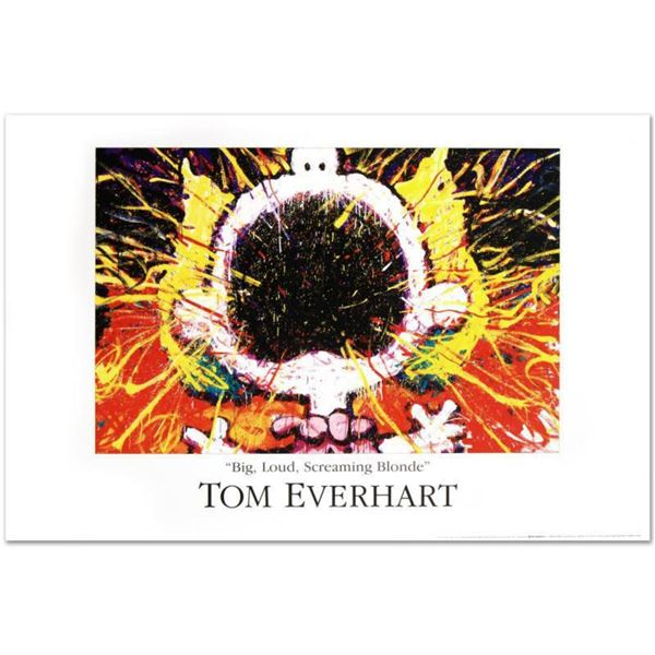 """""""Big Loud Screaming Blonde"""" Fine Art Poster by Renowned Charles Schulz Protege Tom Everhart."""