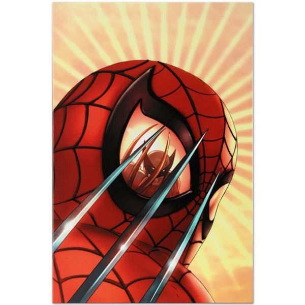"""Marvel Comics """"Marvel Age Team Up #2"""" Numbered Limited Edition Giclee on Canvas by Scott Kolins with"""