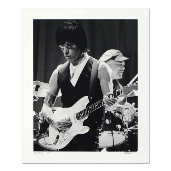 """Rob Shanahan, """"Jeff Beck"""" Hand Signed Limited Edition Giclee with Certificate of Authenticity."""
