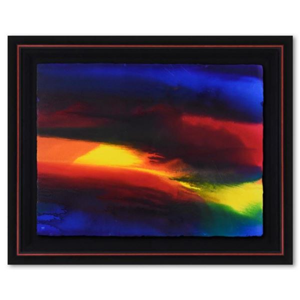"""Wyland, """"Color Theory 6"""" Framed Original Watercolor Painting Hand Signed with Letter of Authenticity"""
