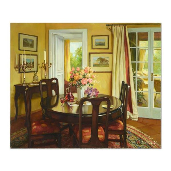 """Sasha Yutkin, """"Our House"""" Original Oil Painting on Canvas, Hand Signed with Letter of Authenticity."""