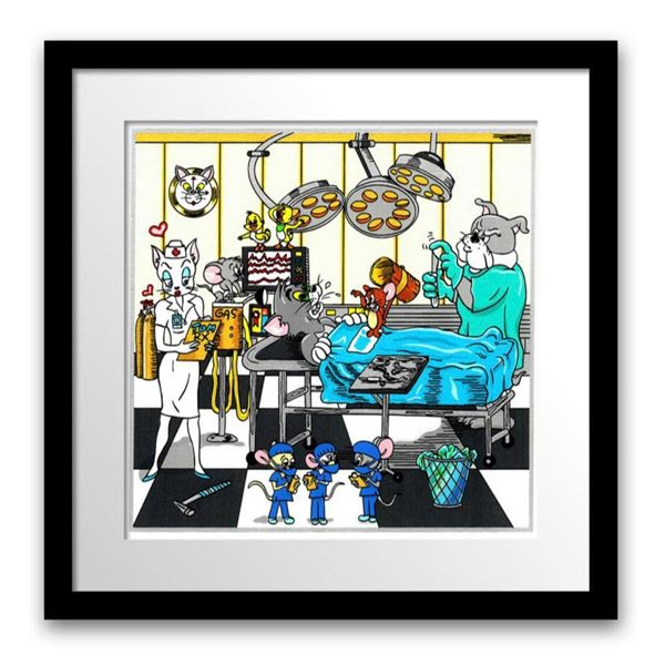 """Charles Fazzino- 3D Construction Silkscreen Serigraph """"Tom & Jerry's Surgical CATastrophe"""""""