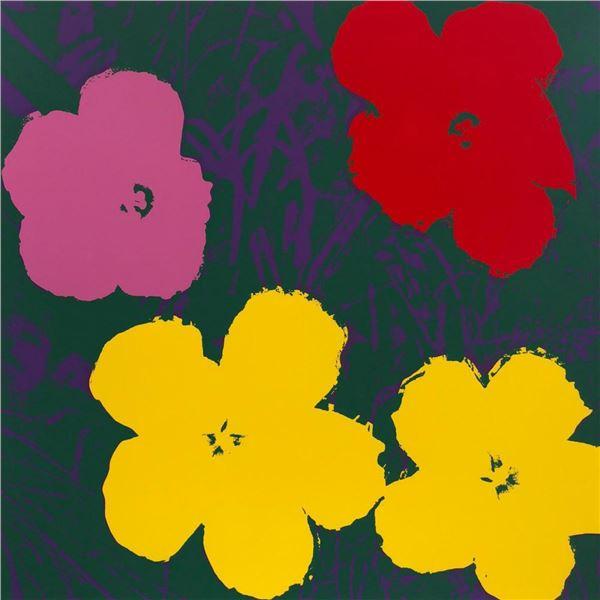 "Andy Warhol- Silk Screen ""Flowers 11.65"""