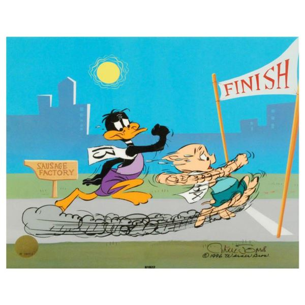 """""""Sausage Factory"""" by Chuck Jones (1912-2002). Limited Edition Animation Cel with Hand Painted Color,"""