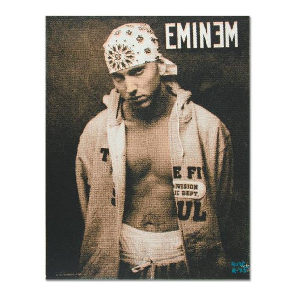 "Ringo Daniel Funes, (Protege of Andy Warhol's Apprentice, Steve Kaufman), ""Eminem"" One-of-a-Kind Han"