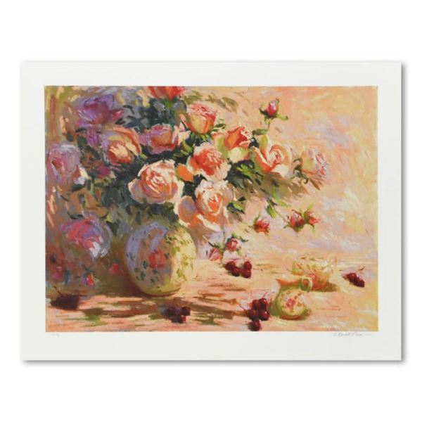 """S. Burkett Kaiser, """"Roses & Cherries"""" Limited Edition, Numbered and Hand Signed with Letter of Authe"""